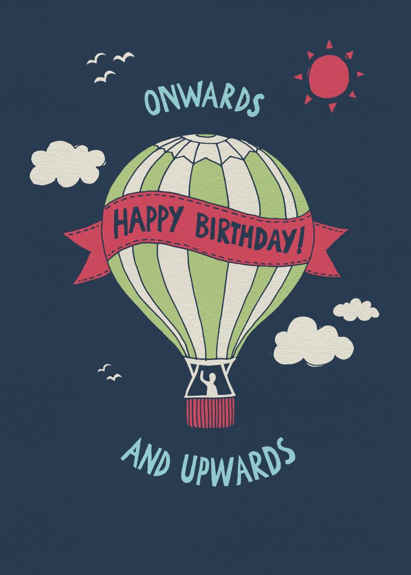 Birthday Balloon gift card design