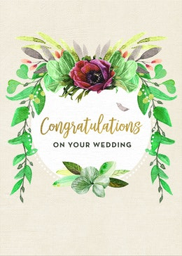 Wedding Floral gift card design