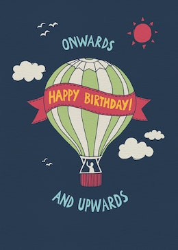 Birthday Balloon gift card design