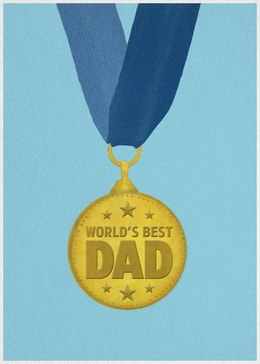 Fathers Day Medal gift card design