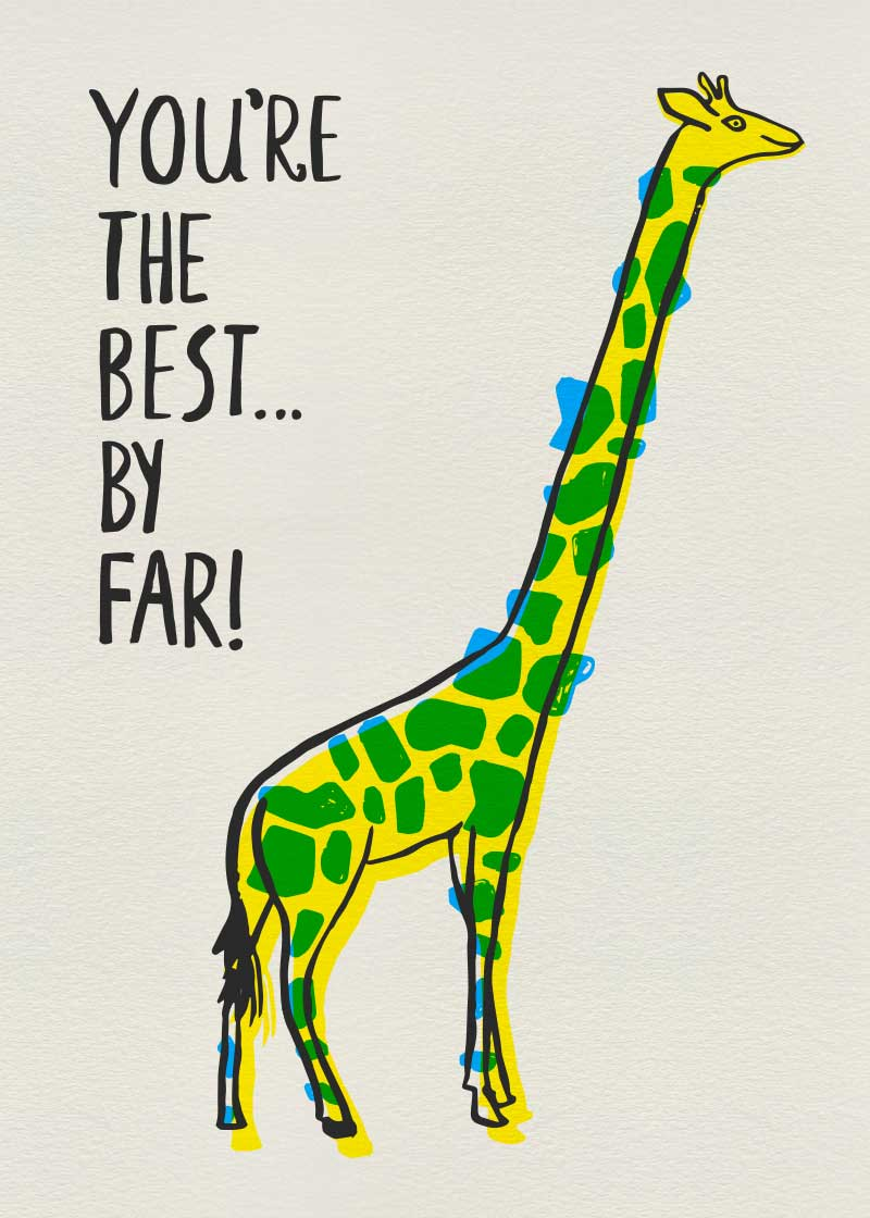 Best giraffe gift card design