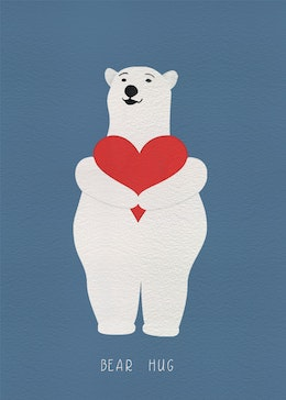 Bear Hug gift card design