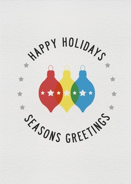 Holiday Bulbs gift card design
