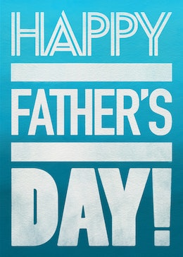 fathers day blocks gift card design