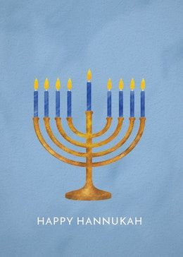 Hanukkah Menorah gift card design