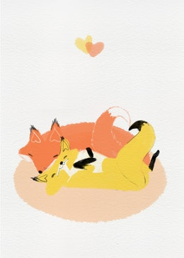Love Foxes gift card design