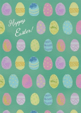 Easter Eggs gift card design