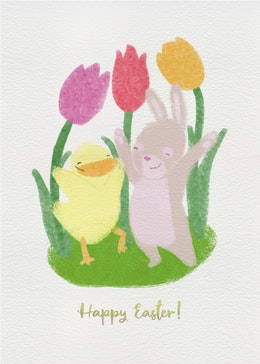 Easter Animals gift card design