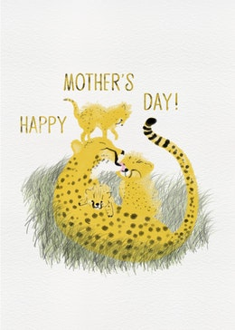 Mothers Day Cheetahs gift card design