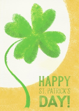 St Patricks Day Clover gift card design