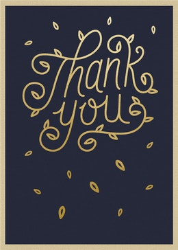 Thank You Leaves gift card design