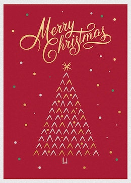 Red Merry Xmas gift card design