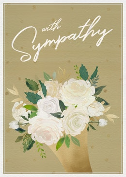 with Sympathy gift card design