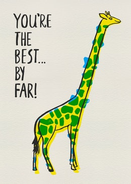 Giraffe gift card design