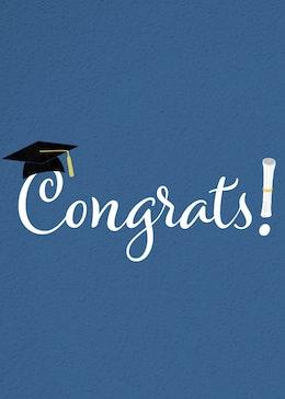 Congrats Grad gift card design