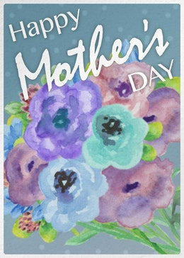 Mother's day bouquet gift card design