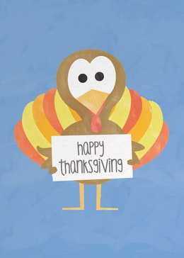 Thanksgiving Turkey gift card design