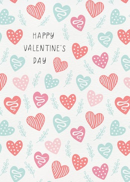 Valentines Pattern gift card design